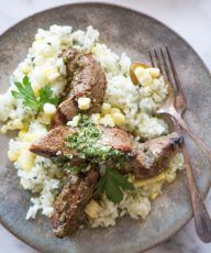 Brazillian Grilled Flank Steak With Chimichurri Rice-7