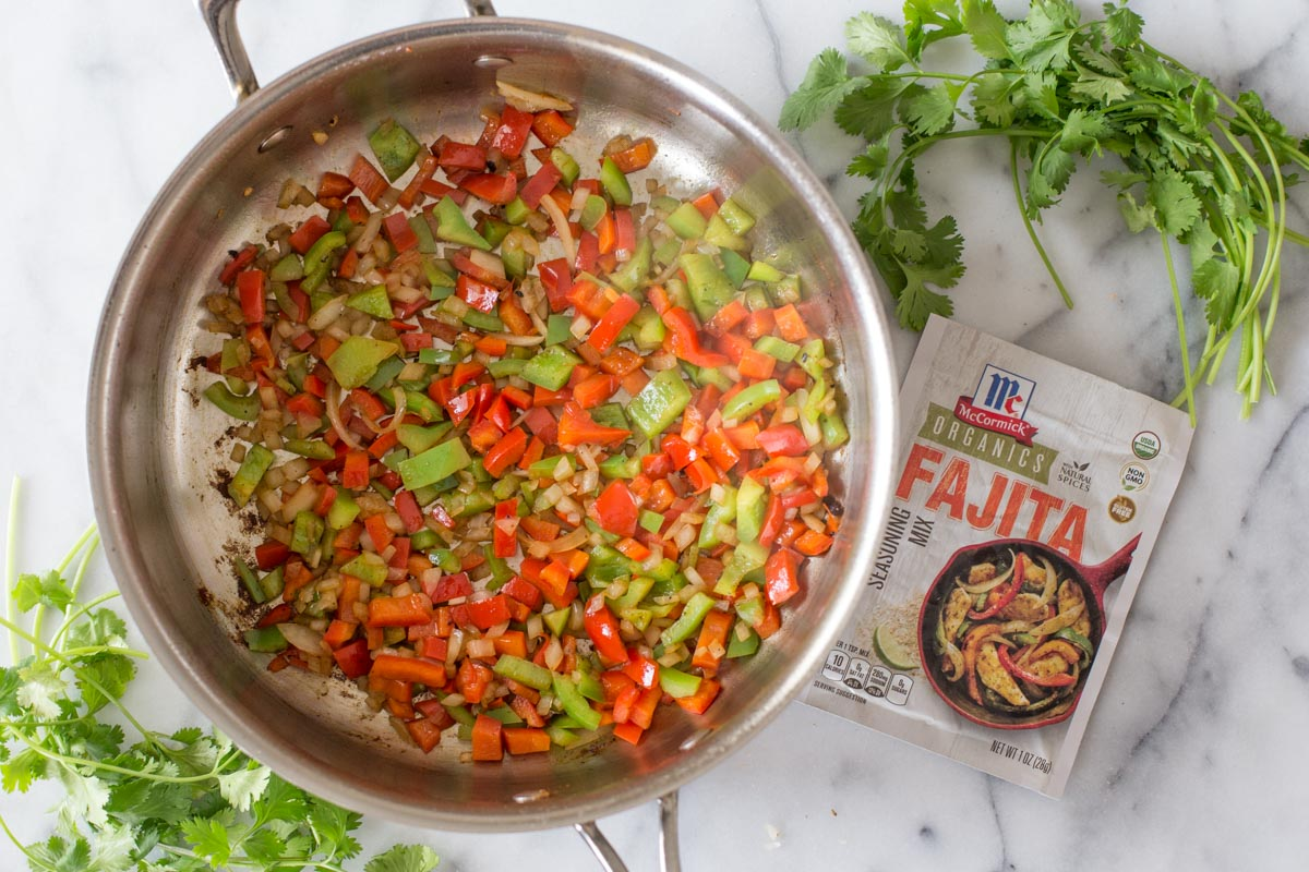A delicious, quick and easy dinner made in one skillet so you can make family time happen and clean up a breeze!
