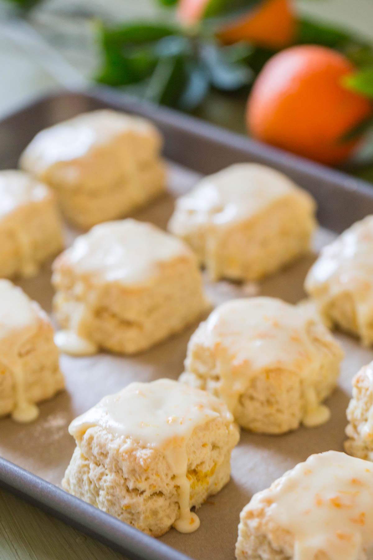 mini orange cream scones lovely little kitchen