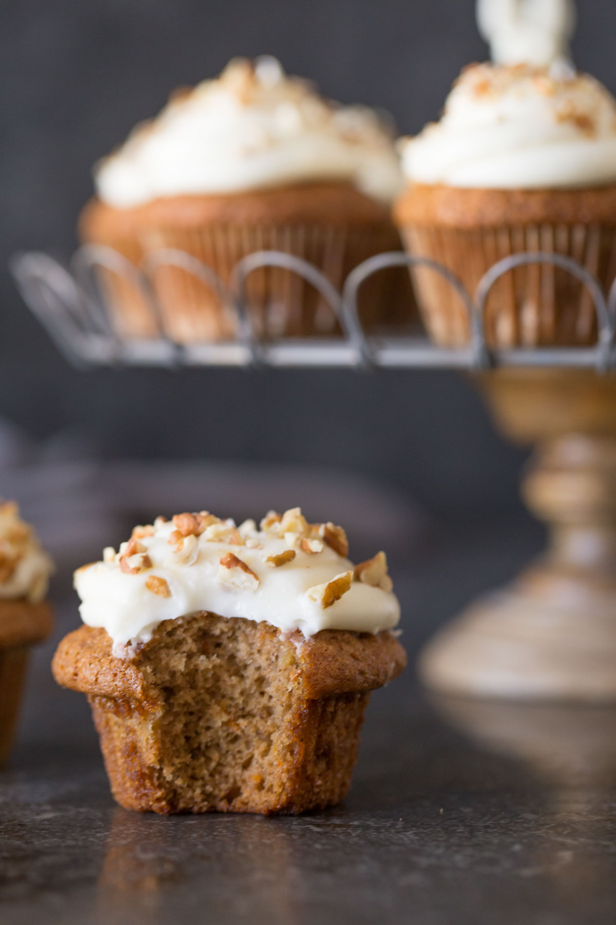 I love these Carrot Cake Cupcakes because they taste as good as they look!