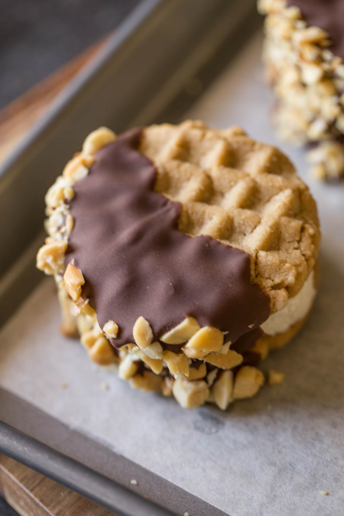 Peanut Butter Cookie Ice Cream Sandwiches - Lovely Little ...