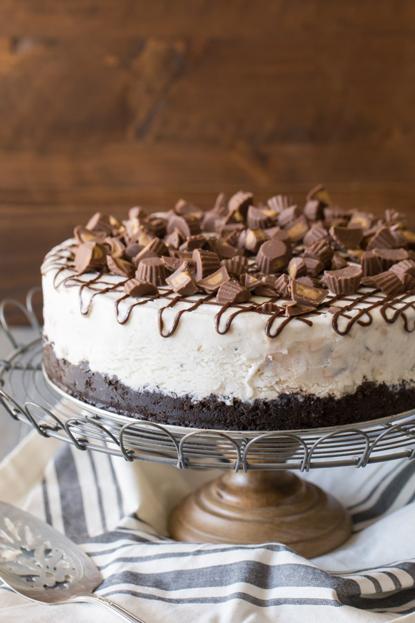 Peanut Butter Cup Ice Cream Cake Lovely Little Kitchen